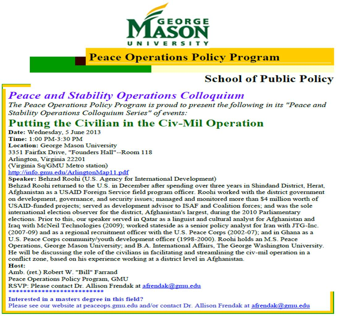 Peace Operations Policy Program